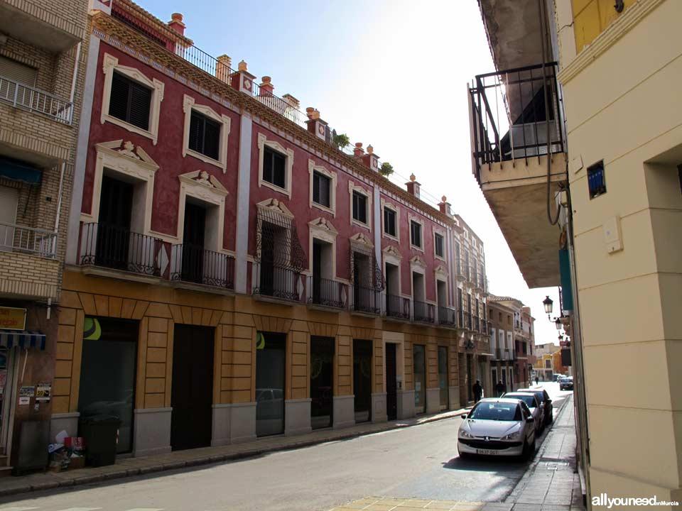 Calle General Aznar en Totana