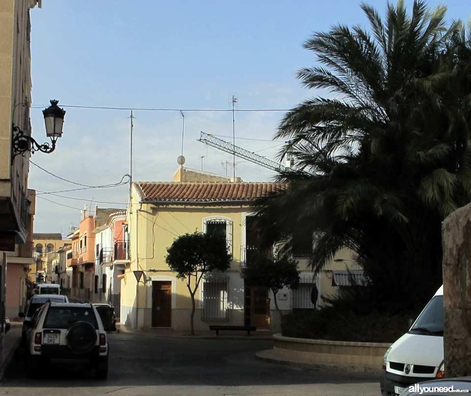 Calle de Los Santos en Totana