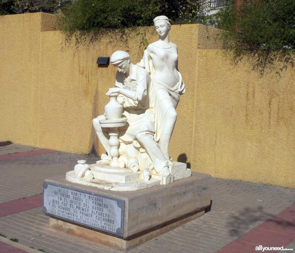 Rambla de la Santa. Monumento al Alfarero