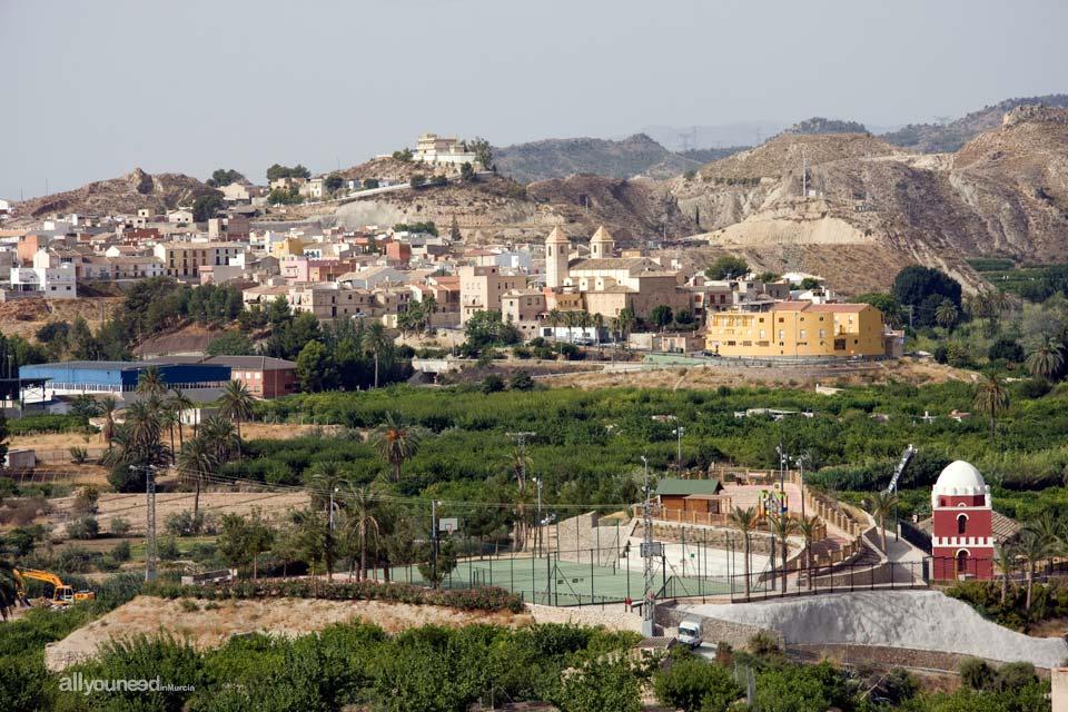 Vista de Villanueva del Río Segura  y El Gurugú de Ulea