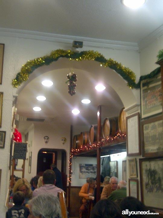 Bar Los Zagales en Murcia. Tapas tradicionales.