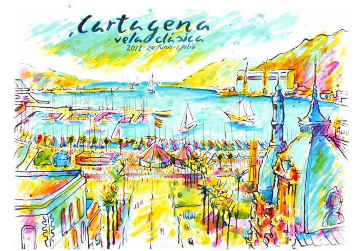 Cartel oficial IV Semana náutica de Vela Clásica